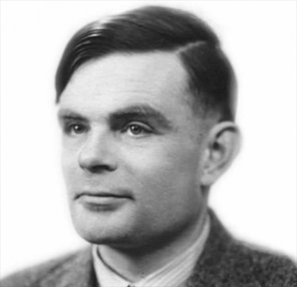 Headshot: Alan Turing
