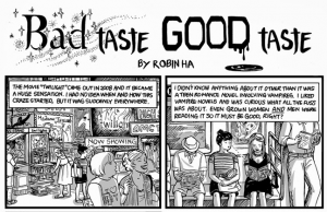 Bad Taste Good Taste, Robin Ha, Twilight comic, questionable taste, The Room, anthology, women in comics,