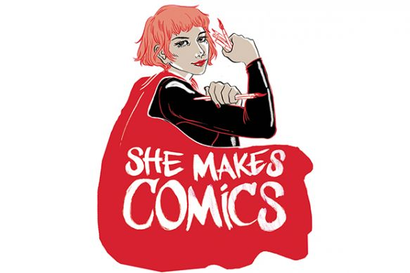 She Makes Comics documentary logo, 2014