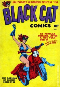 Black Cat, Pocket Comics #1 (Aug. 1941) Published by Harvey Comics. Illustrated by artist Al Gabrielle.