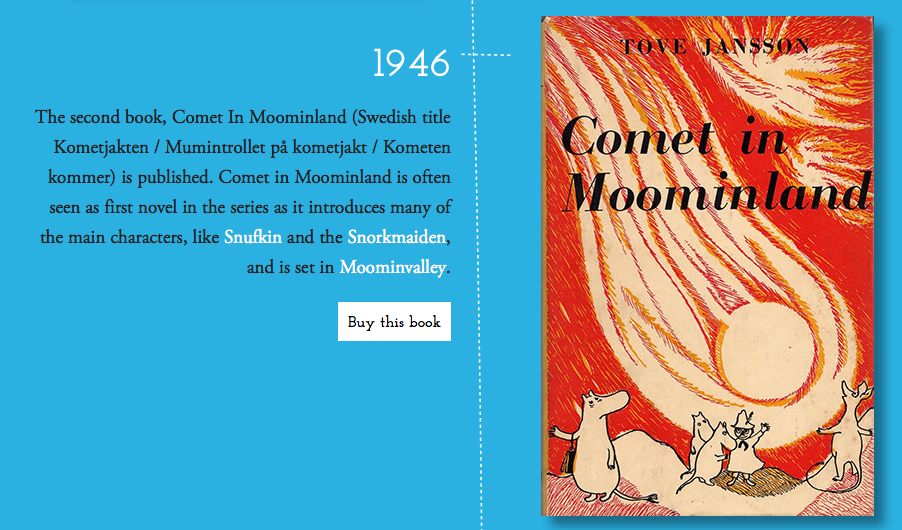 Tove Jannson's Comet in Moomin Land, Moomin.com