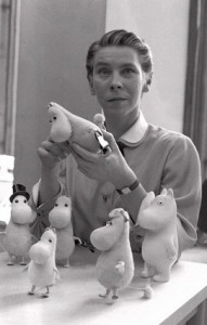 Tove Jansson and Momins, http://www.latimes.com/media/photo/2008-04/38210902.jpg, by Reino Loppinen 1956