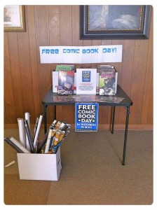 Free Comic Book Day at our library, last year.