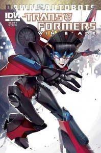 Transformers Windblade 2, Dawn of the Autobots, cover a
