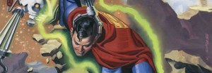 Superman Banner, art by Steve Rude. DC 2014.