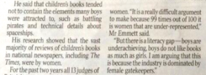 Times excerpt, April 20th 2014. Jonathan Emmet, David Sanderson, Fiona Wilson