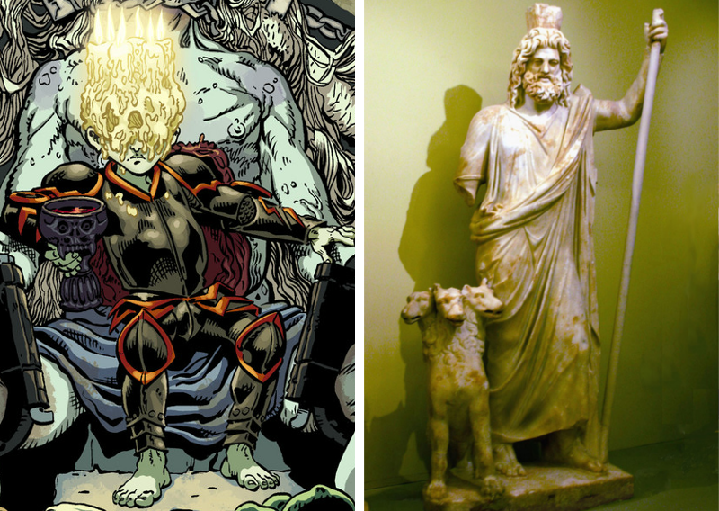 Hades in Wonder Woman and classical