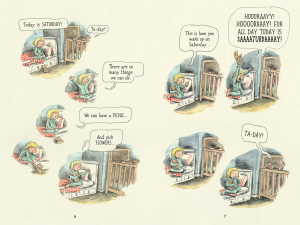 Story Image: Big Wet Balloon. Artist: Liniers. Publisher: TOON Books, 2013. http://www.toon-books.com/the-big-wet-balloon.html