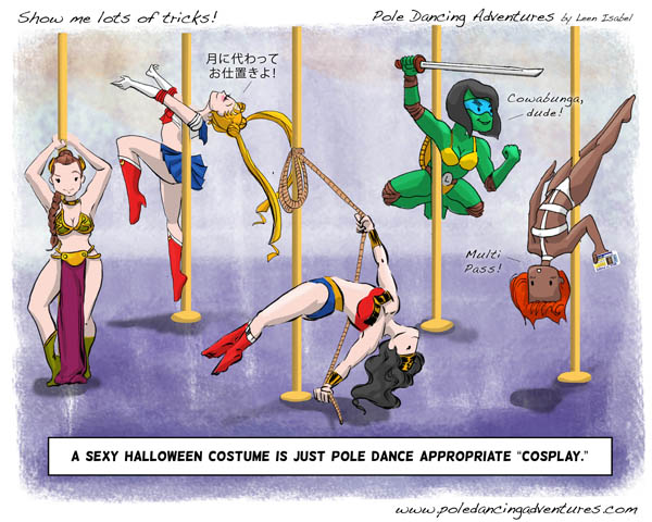 Leen Isabel, Pole Dancing Adventures webcomic, 2013