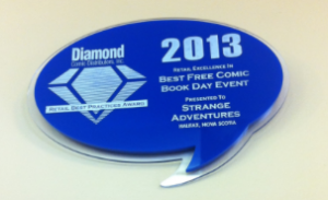 "Diamond Comics awarded Strange Adventures with the ""Best Free Comic Book Day"" award"