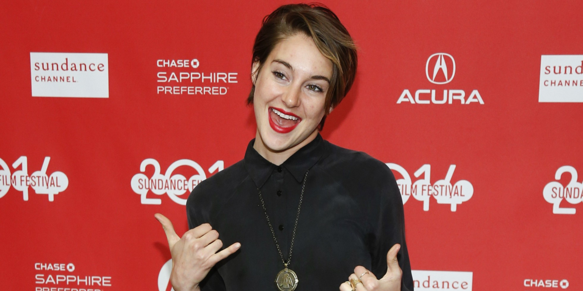 "Cast member Shailene Woodley poses at the premiere of the film ""White Bird in a Blizzard"" during the 2014 Sundance Film Festival, on Monday, Jan. 20, 2014, in Park City, Utah. (Photo by Danny Moloshok/Invision/AP)"