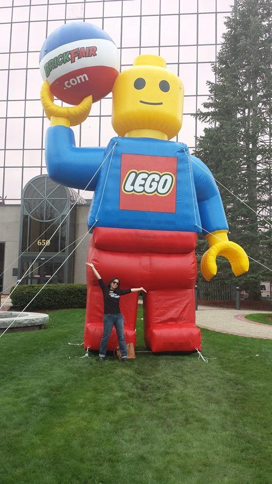 brenda with LEGO man