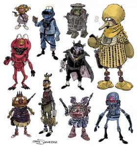 Muppet Star Wars by Chris Schweizer