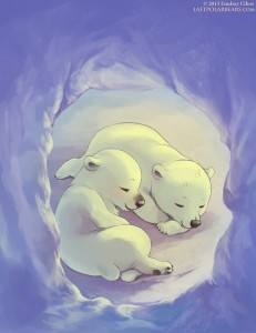 The Last of the Polar Bears, Lindsay Cibos, webcomic, polar bears snuggling