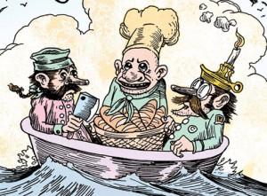 nursery rhyme comics, rub a dub dub, tony millionaire, chris duffy, publisher first second
