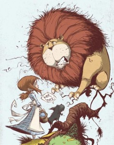 Skottie Young, Wonderful Wizard of Oz, cowardly lion
