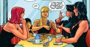 Birds of Prey breakfast, Gail Simone, DC Comics