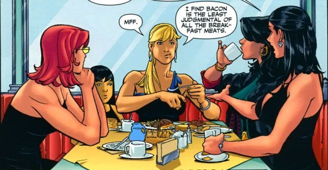 Birds of Prey breakfast, Gail Simone, DC Comics