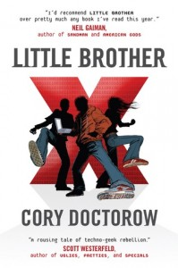 Cory Dotorow. Little Brother. Book Cover. Tor Teen. January 1, 2008. Young Adult.