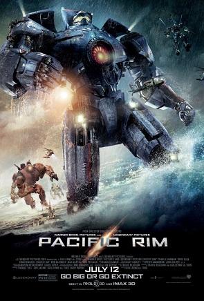 Pacific Rim poster, Travis Beacham, Guillermo del Toro, Legendary Pictures, Warner Bros, 2012