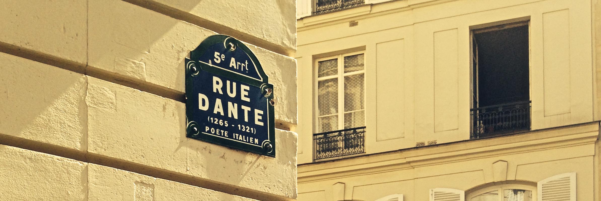 Rue Dante Sign