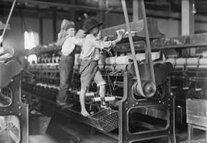 depression era kids, factory, the way we worked exhibit