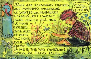 Lynda Barry, Bugs, What it is, http://classic.tcj.com/interviews/the-lynda-barry-interview/