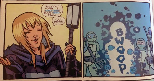 Turtles in Time #1, Paul Allor and Ross Campbell, IDW Publishing, 2014.