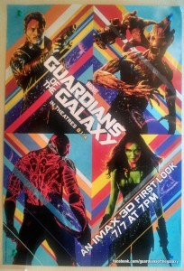 Photo by Ardo Omer. Guardians of the Galaxy. Poster. Marvel. Marvel Studios. July 7, 2013.