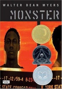 Monster. Walter Dean Myers. Cover. Amistad. HarperCollins Publishers. April 21st 1999.