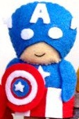 captain america, finger puppet