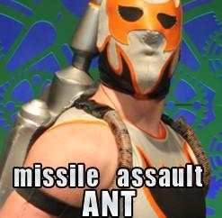 Missile Assault Ant, Chikara, chikarapro.com