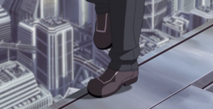 The Major on the roof Motoko Kusanagi, Ghost in the Shell: Stand Alone Complex, episode 20, Production IG, 2002