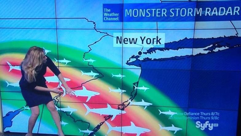 Sharknado2 Weather Report