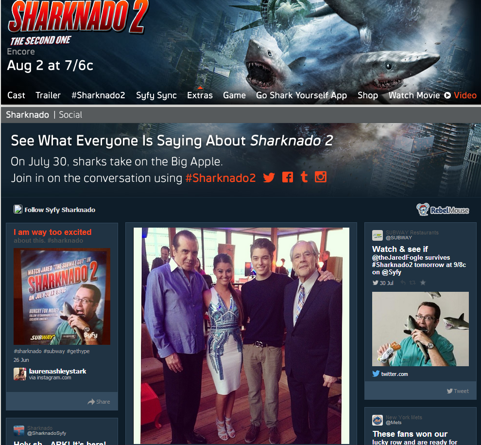 Sharknado 2 Social at SyFy