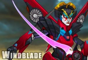 The concept art for Windblade, copyright Hasbro, 2013
