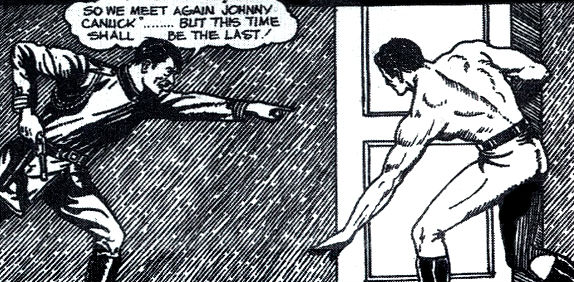 Banner: Hitler vs Johnny Canuck