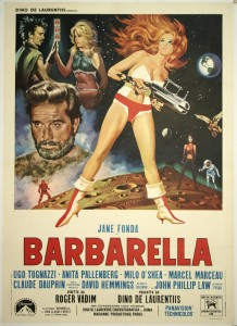barbarella poster, http://leagueofdeadfilms.com/2012/09/11/september-11th-2012-barbarella-1968/