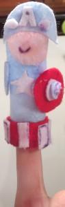 captain america fingerpuppet, photo, lana jaeger