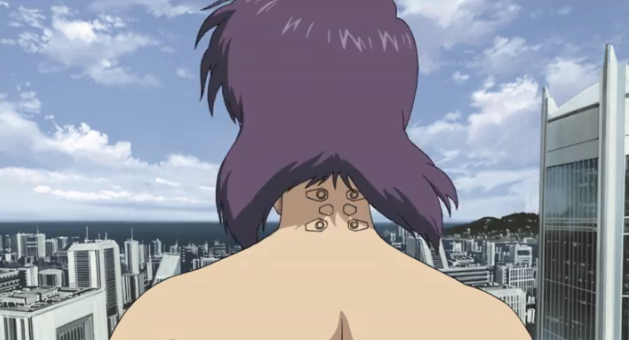 The Major on the roof, Ghost in the Shell: Stand ALone Complex, ep. 20, Production IG, 2002