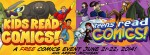 Kids Read Comics, Teens Read Comics, event banner, http://mlatcomics.com/krc/about