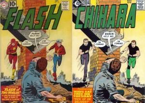 "The Flash 120 cover + Chikara 2004 cover, squished by Gavin ""Gavok"" Jasper, 4thletter.com"