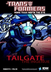Tailgate's teaser. Art by Alex Milne, colors by Joana Lafuente.
