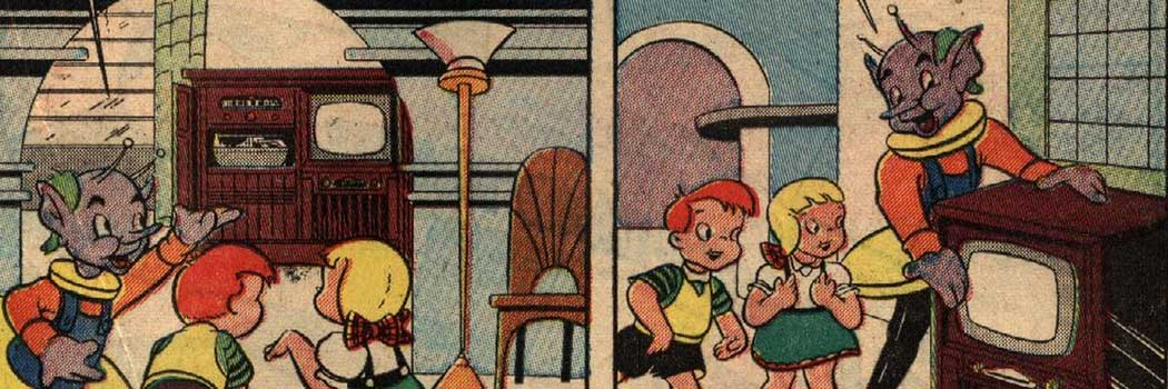 Tee and Vee Crosley in Television Land Comics Crosby Division Al Fago 1951