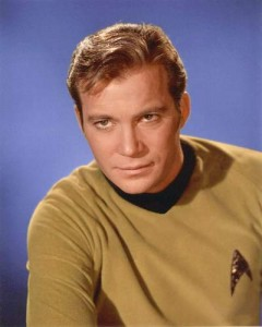 William Shatner as James T Kirk, Star Trek, created by Gene Roddenberry, currently owned by CBS & Paramount