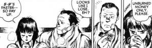 Motoko Kusanagi and her boyfriend, The Major, Ghost in the Shell manga,攻殻機動隊, Kōkaku Kidōtai, Shirow Masamune, Kodansha, 1991