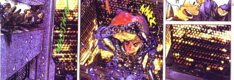 The classic fall, Motoko Kusanagi, The Major, Ghost in the Shell manga,攻殻機動隊, Kōkaku Kidōtai, Shirow Masamune, Kodansha, 1991