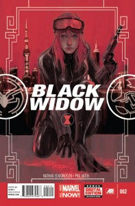 Black Widow. Marvel Comics. Marvel. Written by Nathan Edmondson. Art and Cover by Phil Noto. January 22 2014.