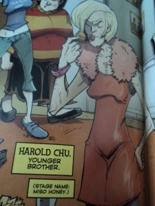 Harold Chu, from page 12 of Image Comics' Chew #15. Art and color by Rob Guillory, script and lettering by John Layman.