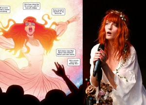 The Wicked and The Divine, Jamie McKelvie, Image, 2014 and Florence Welch reproduction photo